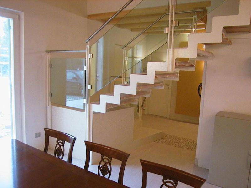 Ringhiere vetro inox e alluminio murarotto serramenti - Corrimano in vetro per scale ...