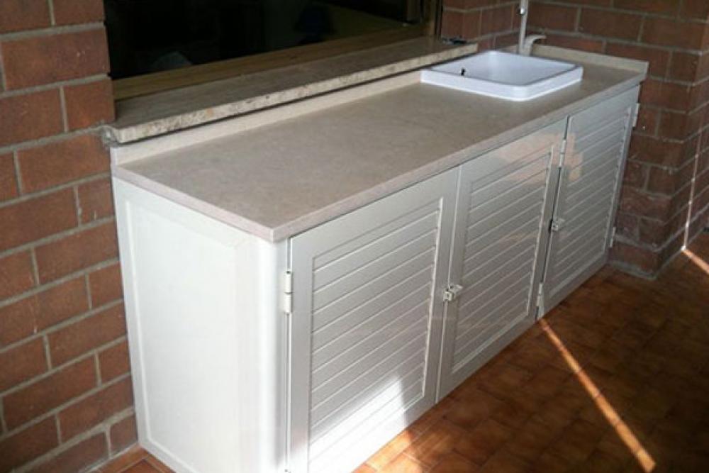 Best armadi in alluminio per esterni prezzi pictures for Lavatrice balcone